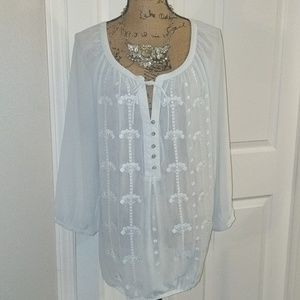 Lovely, delicate sheer top from Lane Bryant